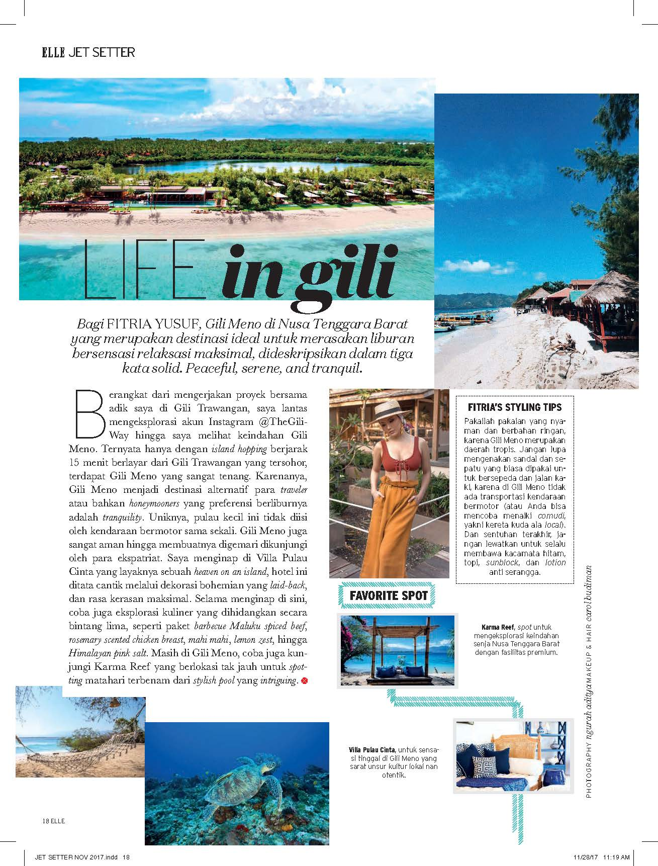 ELLE Indonesia Jet Setter November 2017